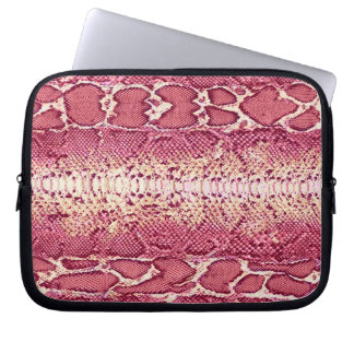 Exotic Pink Snake Skin #3 Laptop Sleeve