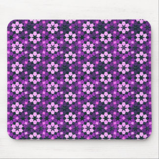 Exotic Purple Flower Pattern Mouse Pad