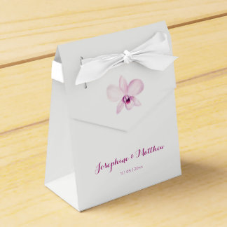 Exotic Purple Orchid Wedding Favour Box