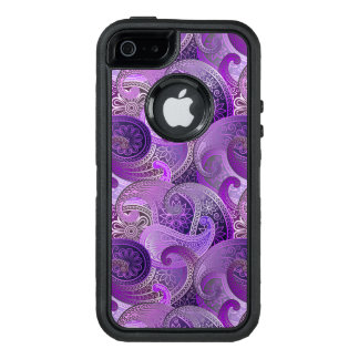 Exotic Purple Paisley Boho Pattern OtterBox Defender iPhone Case