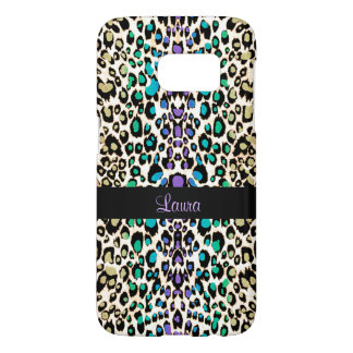 Exotic Rainbow Leopard Personalized Animal Print