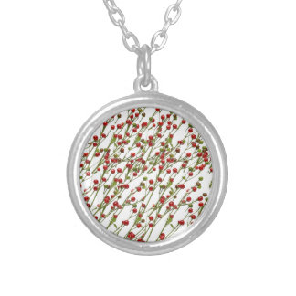 Exotic Red Chillies -  Ward Off EVIL Eye Round Pendant Necklace