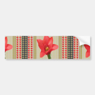 Exotic Red Tulip petal based Waves Patterns GIFTS Bumper Sticker