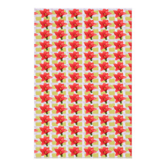 Exotic Red Tulip petal based Waves Patterns GIFTS Stationery Paper