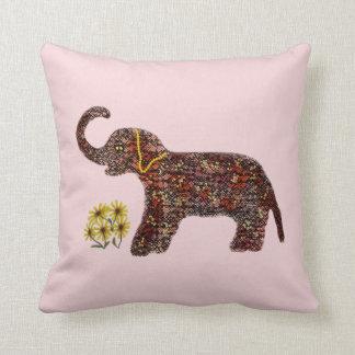 Exotic Rose Elephant Decorative Pillow Cushions