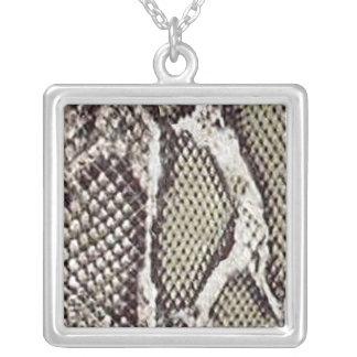 Exotic Snake Skin Pendent Necklace