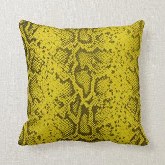 Exotic Snakeskin Pattern   yellow Throw Pillow