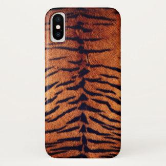 Exotic Tiger Fur Orange and Black Animal Pattern iPhone X Case