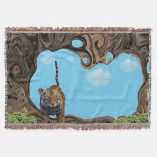 Exotic Tiger. Throw Blanket