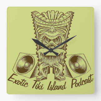 Exotic Tiki Island Podcast Clock