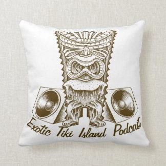 Exotic Tiki Island Podcast Pillow