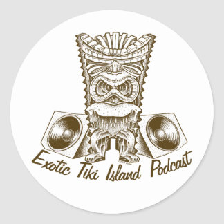Exotic Tiki Island Podcast Stickers
