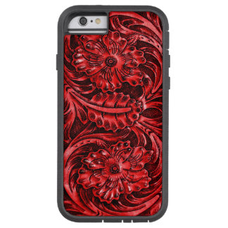 Exotic Tooled Leather Look | red Tough Xtreme iPhone 6 Case