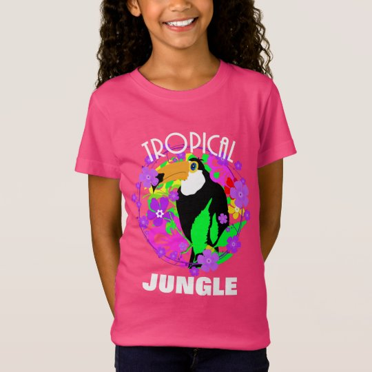 Exotic Toucan Bird Cute Tropical Jungle Colourful T-Shirt