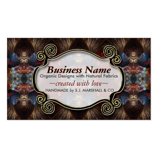 Exotic Tribal Fractal Arts New Age Business Cards