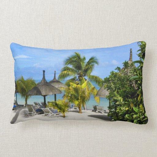 Exotic Tropical Beach Pillow