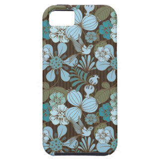Exotic tropical bird and flowers tough iPhone 5 case