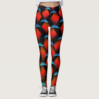 Exotic Tropical Fish Pattern Leggings