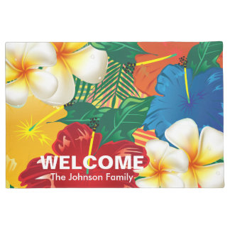 Exotic Tropical Flower Design Doormat
