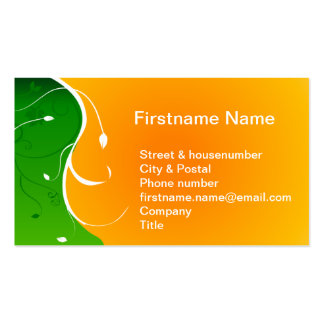 Exotic tropical flower Green Grass with Orange Sun Pack Of Standard Business Cards