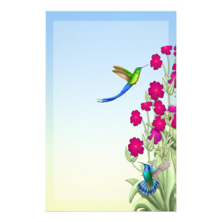 Exotic Tropical Hummingbirds Stationary Personalized Stationery