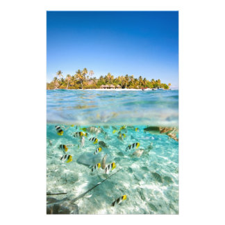 Exotic vacations stationery paper