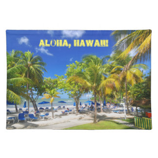 Exotic view from Hawaii Placemat