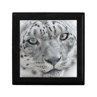 Exotic White Snow Leopard Small Square Gift Box