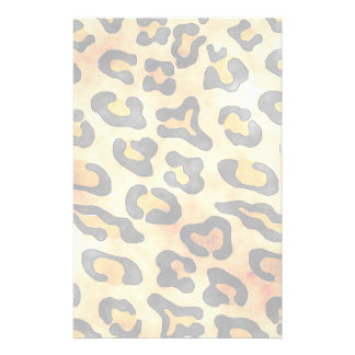 Exotic Wild Animal Leopard Skin Print Stationery