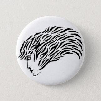 Exotic woman 6 cm round badge