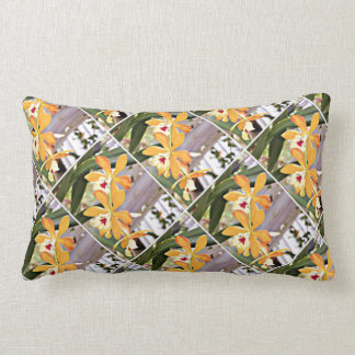 Exotic Yellow and Orange Orchid throw Pillow Throw Pillow