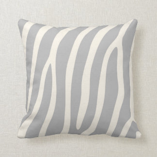 Exotic Zebra Stripes in Light Grey Cushion
