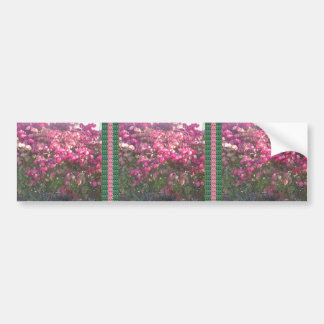 Exotice Flowers DIY TEMPLATE Giveaway Party GIFTS Bumper Sticker