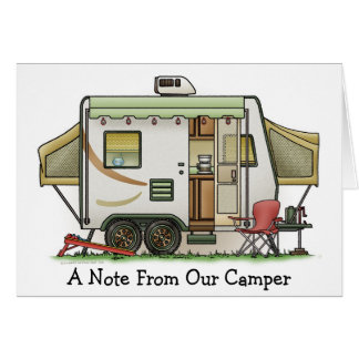 Expandable Hybred Trailer Camper Greeting Card