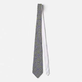 Expanding Optical Illusion Complex Pattern Dizzy Tie