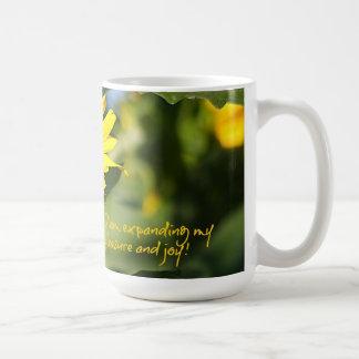 Expanding Pleasure & Joy Sunflower Coffee Mug