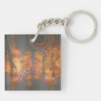 Expansion – Golden Shimmering City of Dream Square Acrylic Key Chain