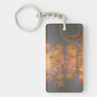 Expansion – Golden Shimmering City of Dream Rectangular Acrylic Key Chain