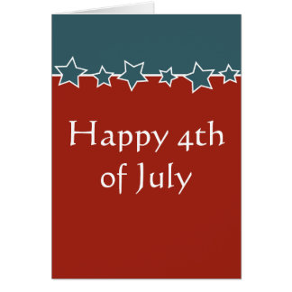 Expat or traveller Happy 4th of July Card