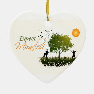 Expect Miracles Ceramic Heart Decoration