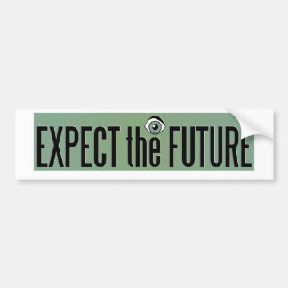 Expect The Future Logo Bumper Sticker