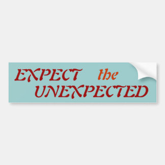 EXPECT, the, UNEXPECTED - Customised Bumper Sticker