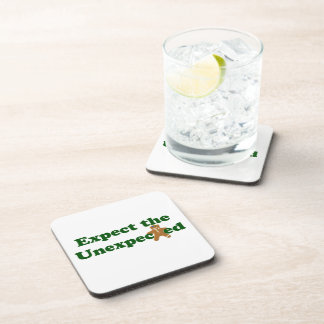 Expect the Unexpected Gingerbread Man Coasters