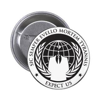 Expect us 6 cm round badge