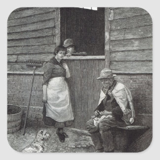 Expectancy, from 'Leisure Hour', 1888 Square Sticker