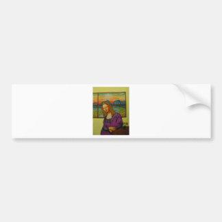 Expectant Mona Lisa Bumper Sticker