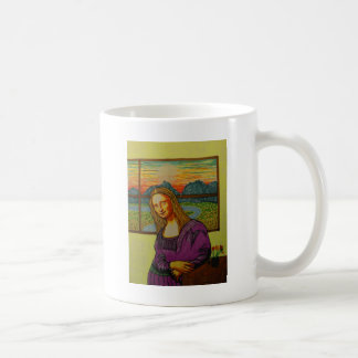 Expectant Mona Lisa Coffee Mug