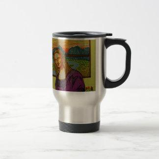Expectant Mona Lisa Travel Mug