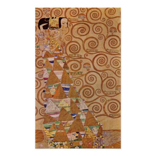 Expectation by Klimt Vintage Victorian Art Nouveau Poster
