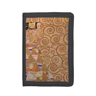 Expectation by Klimt Vintage Victorian Art Nouveau Trifold Wallet